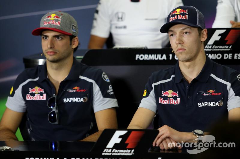Daniil Kvyat, Scuderia Toro Rosso e Carlos Sainz Jr., Scuderia Toro Rosso