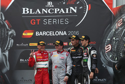 Podium: AM Cup winner Claudio Sdanewitsch, AF Corse, winner of the Sprint Championship Enzo Ide, Belgian Audi Club Team WRT, Silver Cup winners Luca Stolz, Michele Beretta, GRT Grasser Racing Team