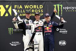Podium: Mattias Ekström, EKS, Audi S1 EKS RX Quattro, Johan Kristoffersson, PSRX Volkswagen Sweden,