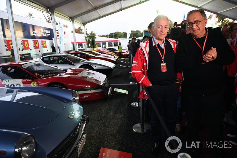 Sergio Marchionne, CEO de FIAT y Piero Lardi Ferrari, Vicepresidente de Ferrari en el Ferrari 70 aniversario