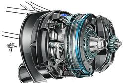 Nouveau système de feins avant, Mercedes W07, avec commentaires
