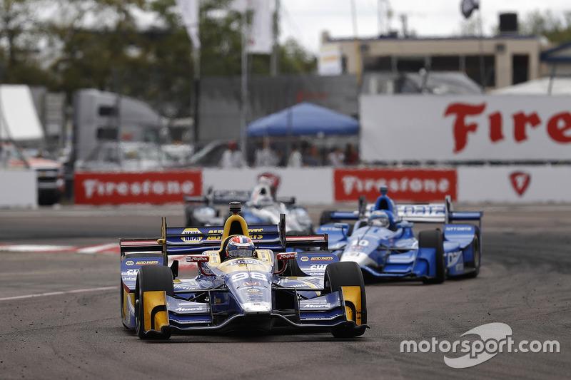 Alexander Rossi, Herta - Andretti Autosport Honda, Tony Kanaan, Chip Ganassi Racing Honda