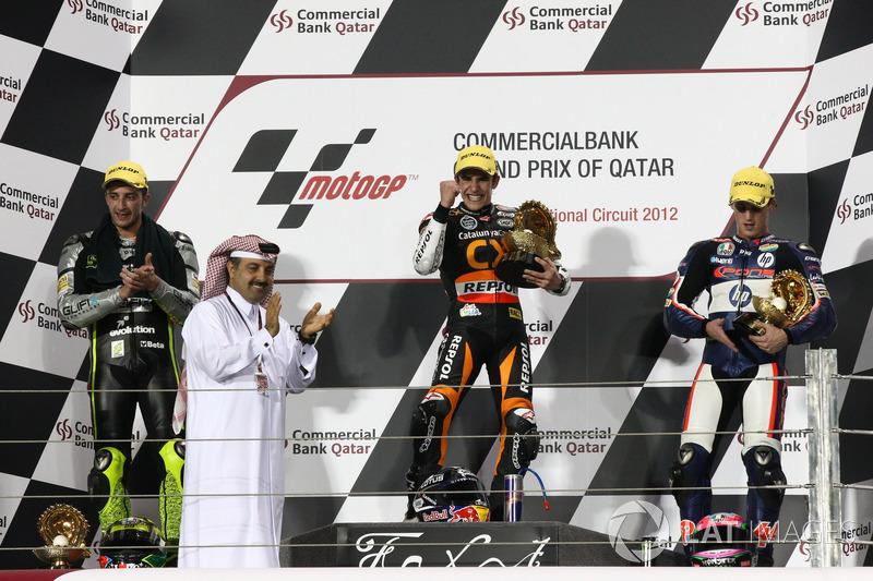 Podium : 1er Marc Márquez, 2e Andrea Iannone, 3e Pol Espargaró