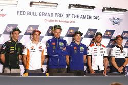 Johann Zarco, Monster Yamaha Tech 3, Marc Marquez, Repsol Honda Team, Valentino Rossi, Yamaha Factory Racing, Maverick Viñales, Yamaha Factory Racing, Cal Crutchlow, Team LCR Honda, Alvaro Bautista, Aspar Racing Team