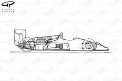 Williams FW11B 1987 schematic view