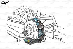 Etrier de frein arrière de l'Arrows A21