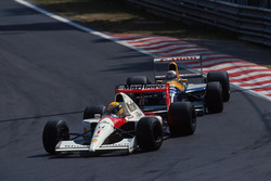Ayrton Senna, McLaren MP4/6; Nigel Mansell, Williams FW14