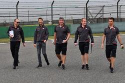 Romain Grosjean, Haas F1 Team VF-18 walks the track