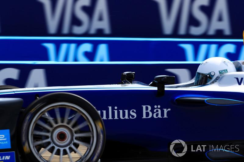 German Football Star Lothar Matthäus, drives the Formula E track car