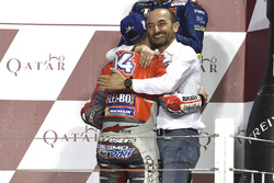 Claudio Domenicali, Ducati Team, et le vainqueur Andrea Dovizioso, Ducati Team