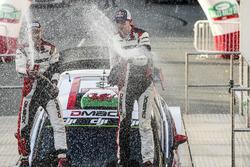 Podyum: Yarış galibi Elfyn Evans, Daniel Barritt, Ford Fiesta WRC, M-Sport