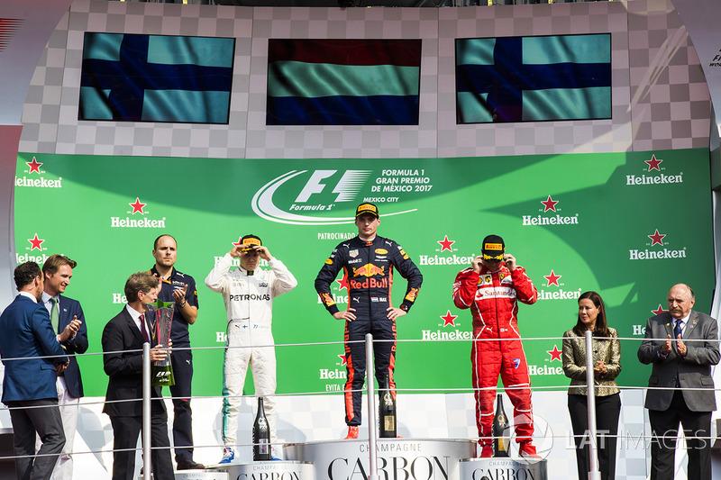 2017: 1. Мax Verstappen, 2. Вalteri Bottas 3. Кimi Raikkonen