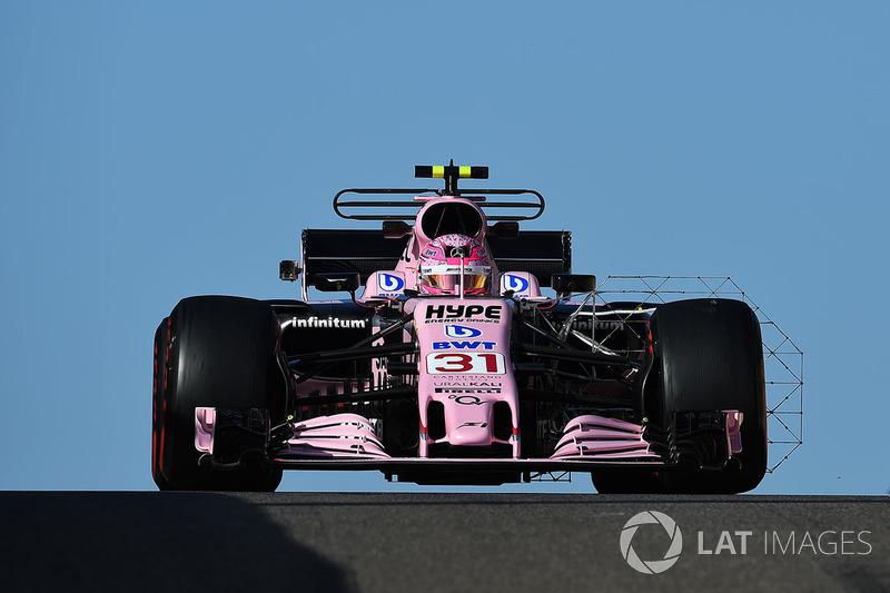 Esteban Ocon, Sahara Force India VJM10 aero sensörü ile
