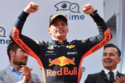 Podium: race winner Max Verstappen, Red Bull Racing