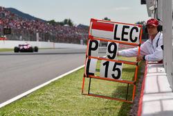 Пит-борд для Шарля Леклера, Alfa Romeo Sauber C37