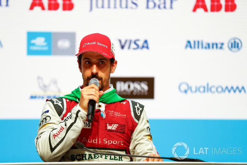 Lucas di Grassi, Audi Sport ABT Schaeffler, dalam konferensi pers pascabalapan