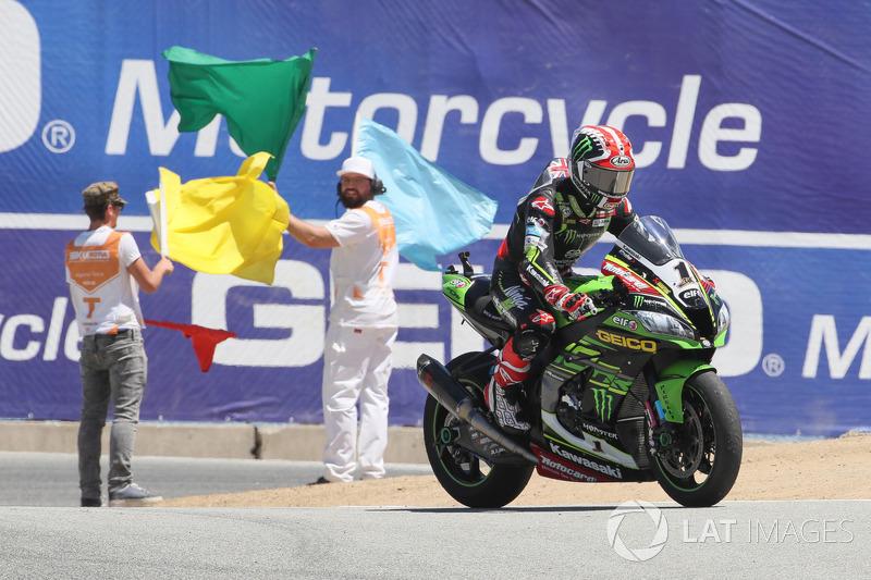 Jonathan Rea, Kawasaki Racing celebration