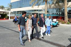 Mark Webber, Susie Wolff, Steve Jones, C4 F1, David Coulthard, Channel Four TV Commentator and Eddie