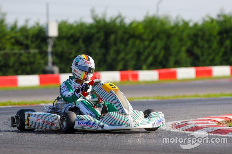Test de Vettel con Tony Kart