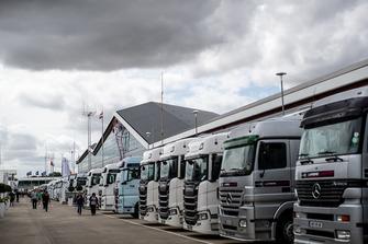 Fahrerlager in Silverstone