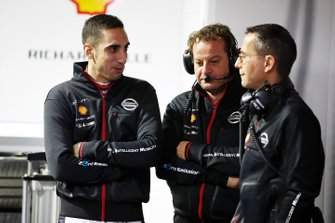 Sébastien Buemi, Nissan e.Dams, in the garage