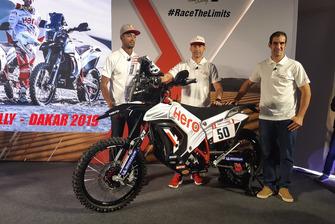 CS Santosh, Hero MotoSports Team Rally, Joaquim Rodrigues, Hero MotoSports Team Rally y Oriol Mena, Hero MotoSports Team Rally