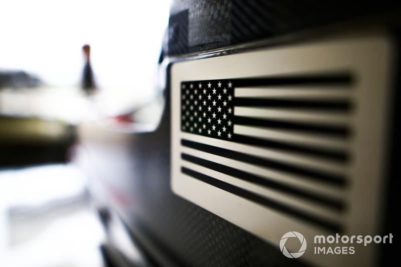 Bandera de los Estados Unidos en el Haas F1 Team VF-18.