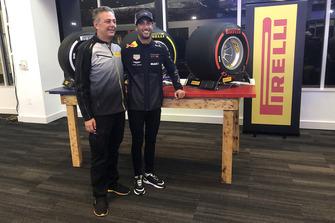 Mario Isola, Pirelli Sporting Director with United States GP Daniel Ricciardo, Red Bull Racing