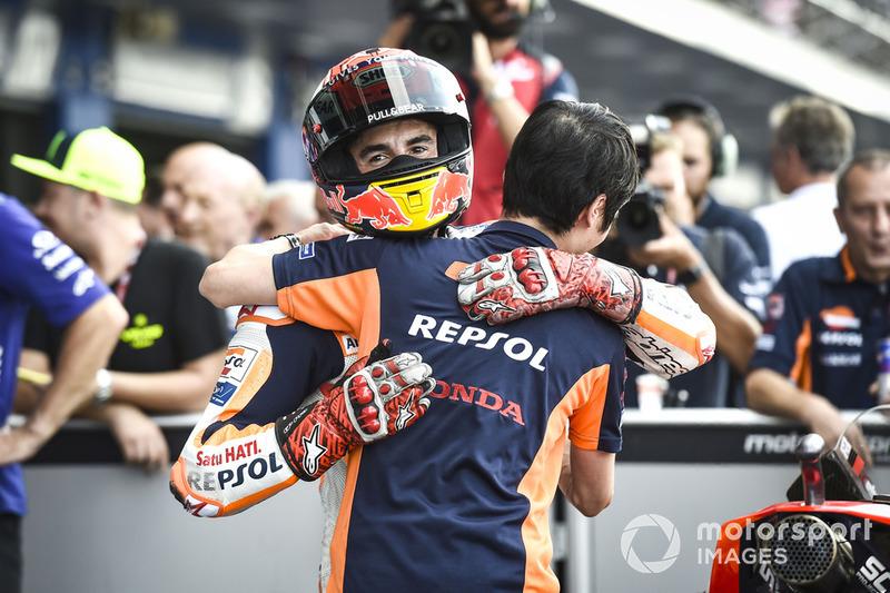Il poleman Marc Marquez, Repsol Honda Team