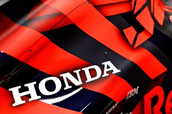 Detail Shot of the Honda logo at the Red Bull Racing RB15