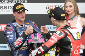 1. Alvaro Bautista, Aruba.it Racing-Ducati Team, 3. Alex Lowes, Pata Yamaha