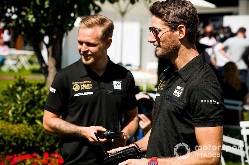 Romain Grosjean, Haas F1 Team e Kevin Magnussen, Haas F1 Team