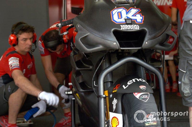 De driedelige fairing van Ducati
