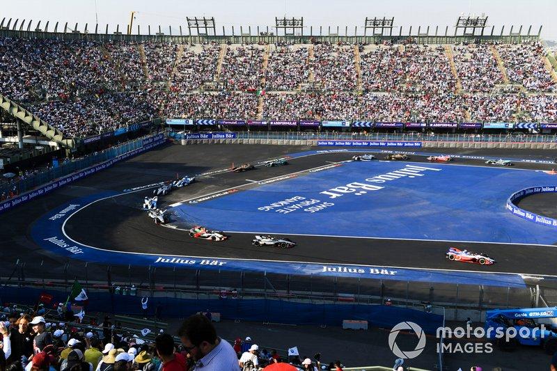 Pascal Wehrlein, Mahindra Racing, M5 Electro y Oliver Rowland, Nissan e.Dams, Nissan IMO1, Lucas Di Grassi, Audi Sport ABT Schaeffler, Audi e-tron FE05