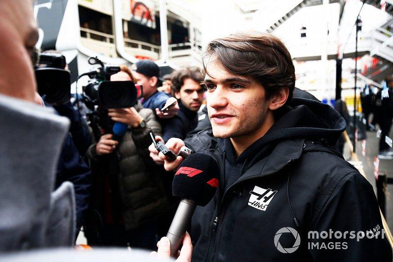 Pietro Fittipaldi, Haas F1 talks with the media
