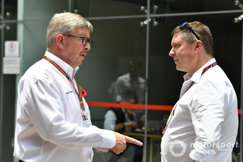 Ross Brawn, Formula One Managing Director of Motorsports and David Croft, Sky F1 Commentator