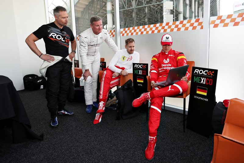 Andy Priaulx, David Coulthard, Sebastian Vettel, Mick Schumacher