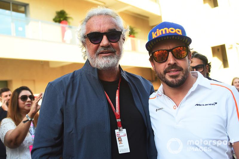 Flavio Briatore e Fernando Alonso, McLaren