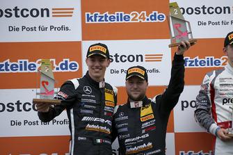Podium: second place #84 AutoArenA Motorsport Mercedes-AMG GT3: Patrick Assenheimer, Raffaele Marciello
