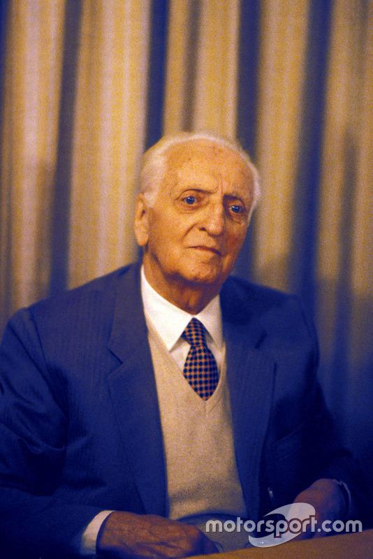 Enzo Ferrari en 1985