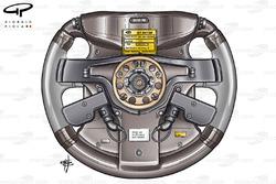 Ferrari F2005 (656) 2005 steering wheel rear view