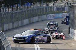 The race starts behind the safety car