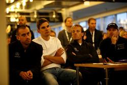 #5 Mercedes-AMG Team Black Falcon Mercedes-AMG GT3: Yelmer Buurman, Luca Stolz, #4 Mercedes-AMG Team Black Falcon Mercedes-AMG GT3: Manuel Metzger, #16 Landgraf Motorsport Mercedes-AMG GT3: Kenneth Heyer