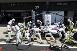 Lance Stroll, Williams FW41, in the pits