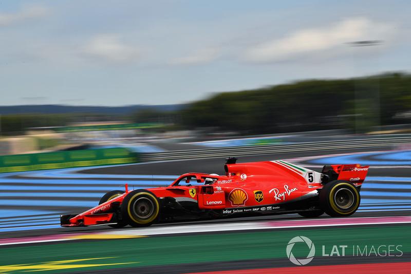 GP de Francia: Sebastian Vettel: (5º en carrera)