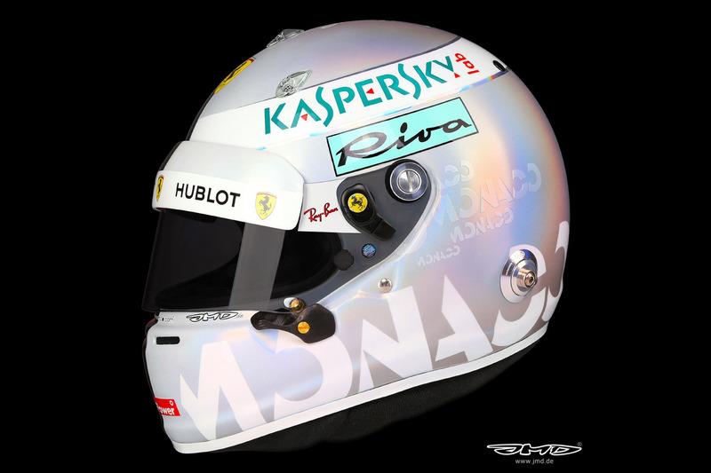 Capacete de Sebastian Vettel desenhado especialmente para o GP de Mônaco