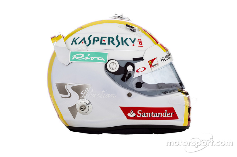 Sebastian Vettel, capacete