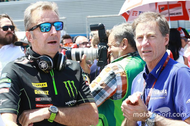 Hervé Poncharal, Monster Yamaha Tech 3 Team Principal, Lin Jarvis, Yamaha Factory Racing Managing Di