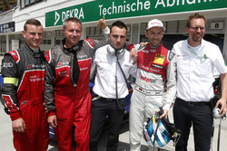 Polesitter René Rast, Audi Sport Team Rosberg, Audi RS 5 DTM, mit dem Team