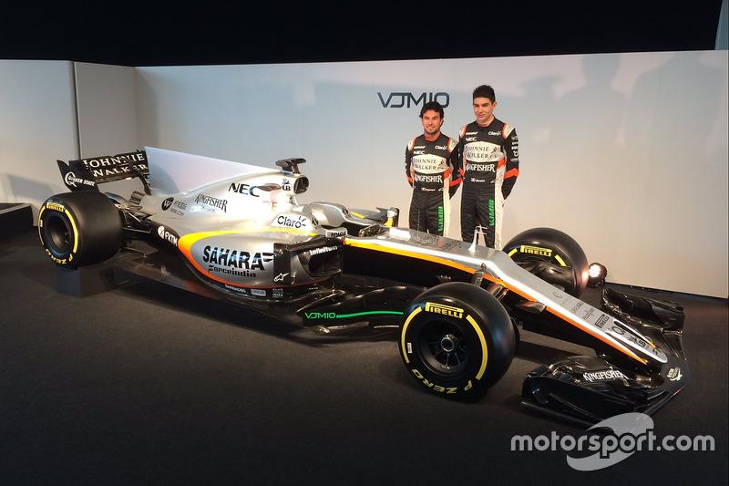 Sergio Perez und Esteban Ocon mit dem Force India VJM10